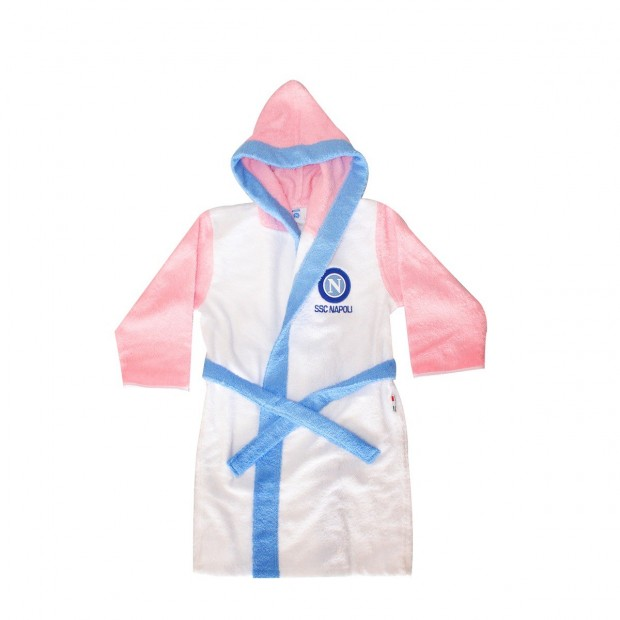 White/Pink Bathrobe for little kids