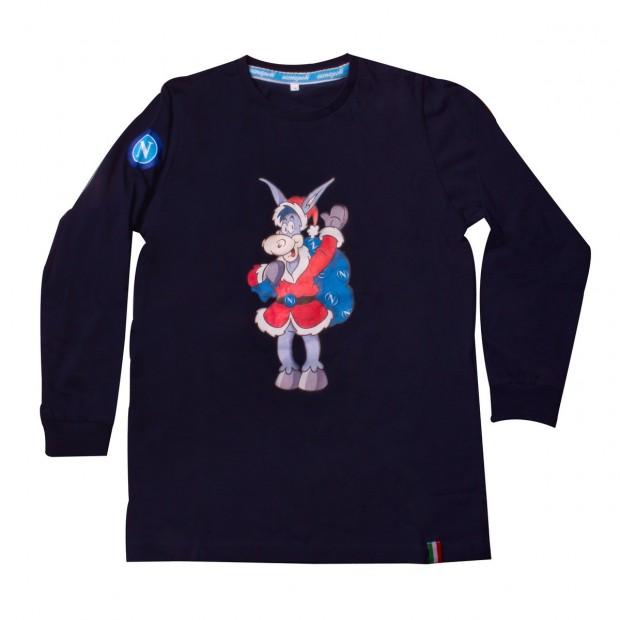 T-Shirt Kid Blu m/l Asinello Natale