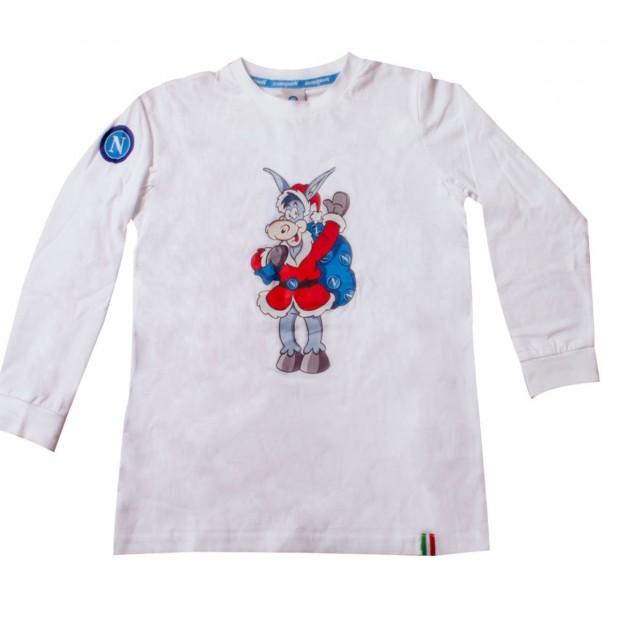 T-Shirt Kid Bianca m/l Asinello Natale