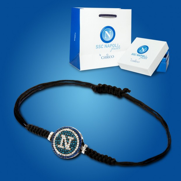 Black Bracelet with Brillars Pendant