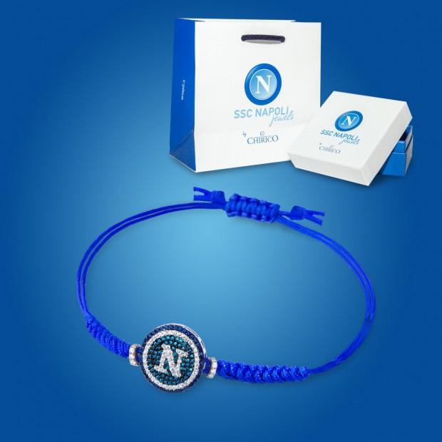 Bracciale Blu con Ciondolo e Zirconi