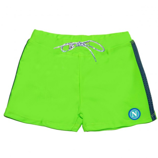 SSCN Green Fluo Brief Shorts for Kids