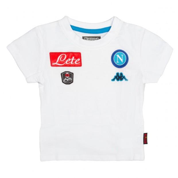 SSC Napoli T-Shirt Bianca JR 2015/2016