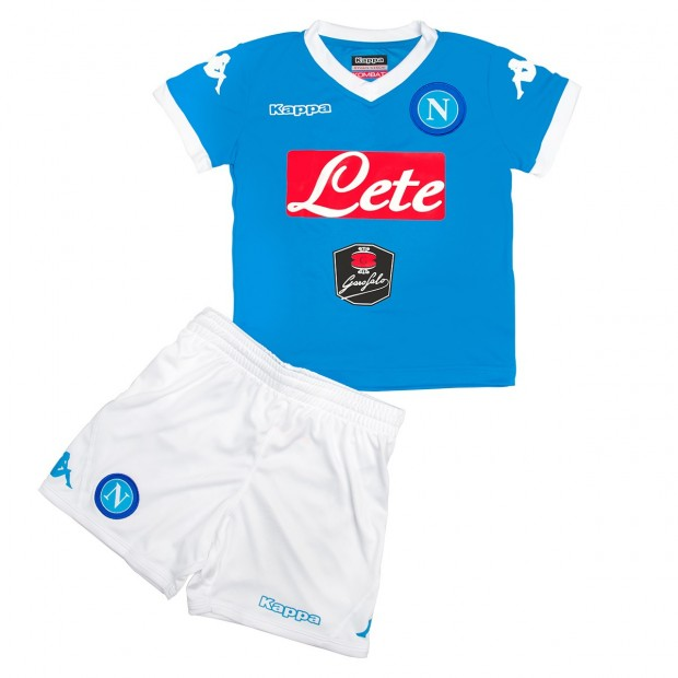 SSC Napoli Home Kit For Kids 2015/2016