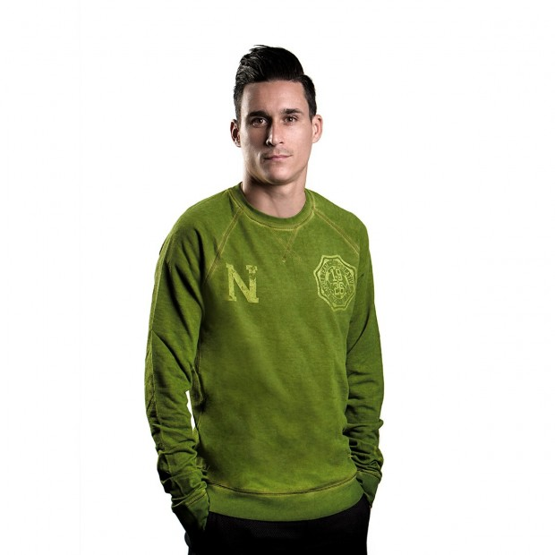 SSC Napoli Round-Necked Military Green Sweater