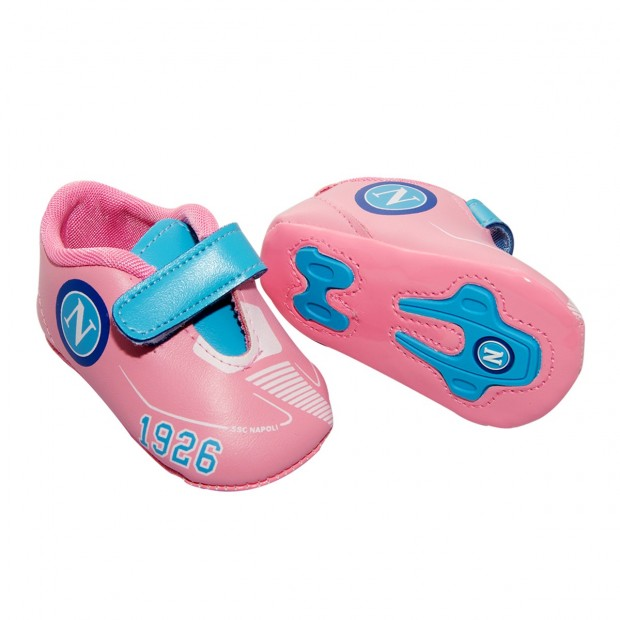 SSC Napoli Pink Strap Shoes 1926 For Infants