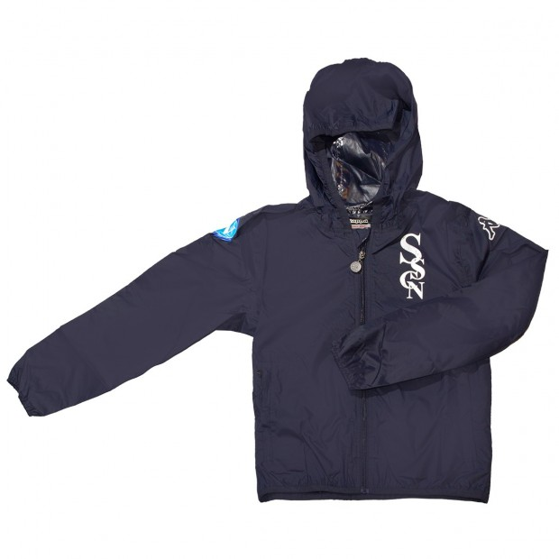 SSC Napoli Giacca con Zip Basic Blue Marine JR