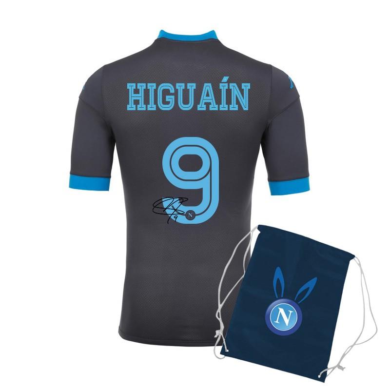 Ssc napoli higuain autographed away match shirt 2015/2016