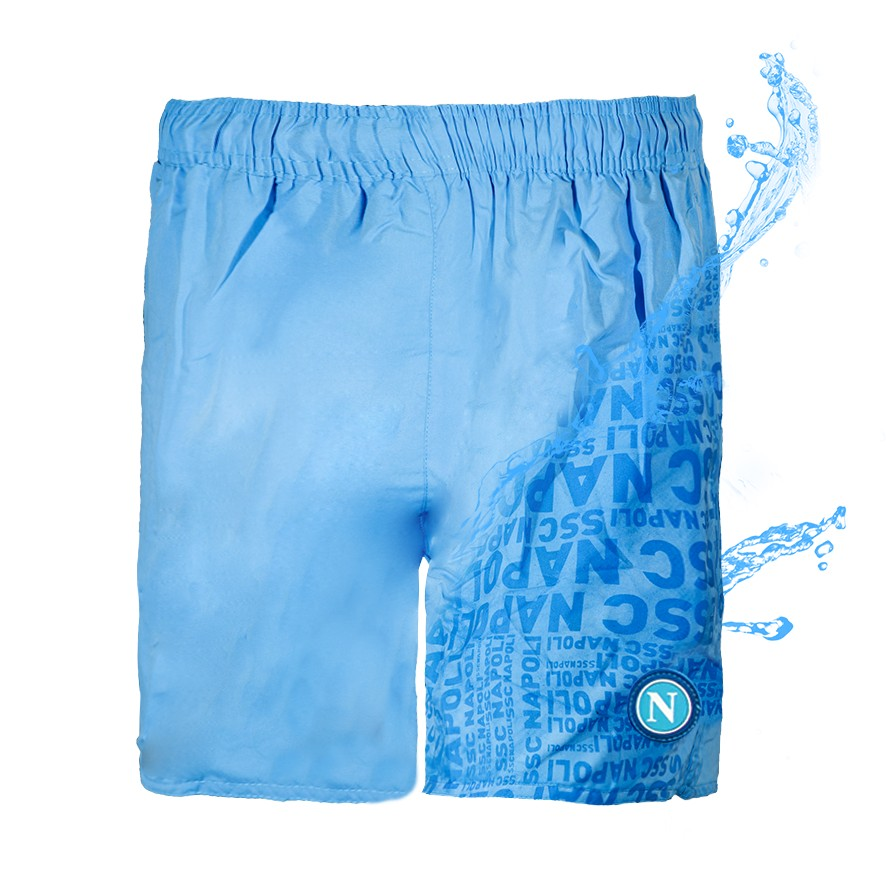 Ssc napoli sky blue magic print swimming trunks