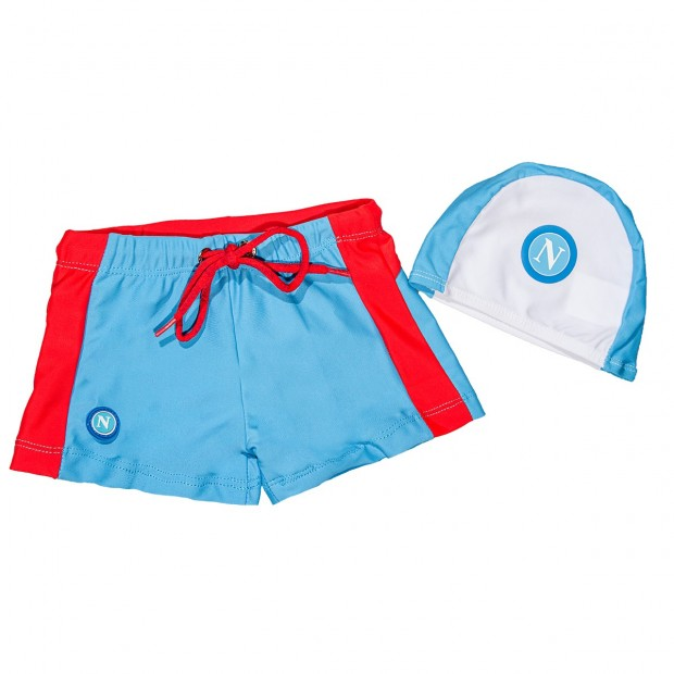 SSC Napoli Sky Blue/Red Brief Shorts