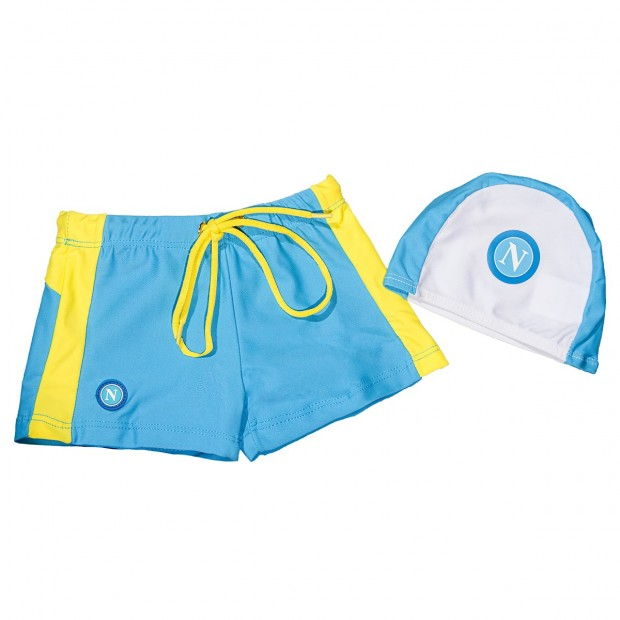 SSC Napoli Sky Blue/Yellow Brief Shorts