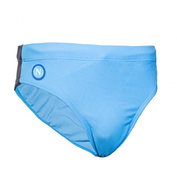 SSC Napoli Sky Blue/Blue Slip Swimming Trunks