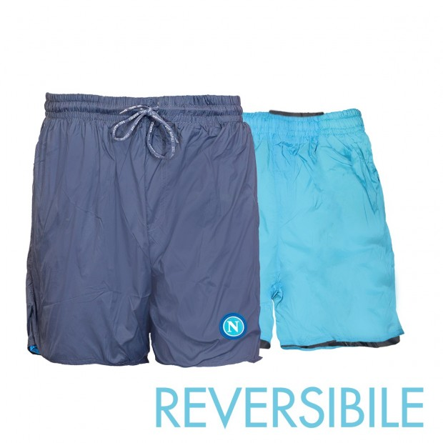 SSC Napoli Blue/Sky Blue Reversible Swimming Trunks