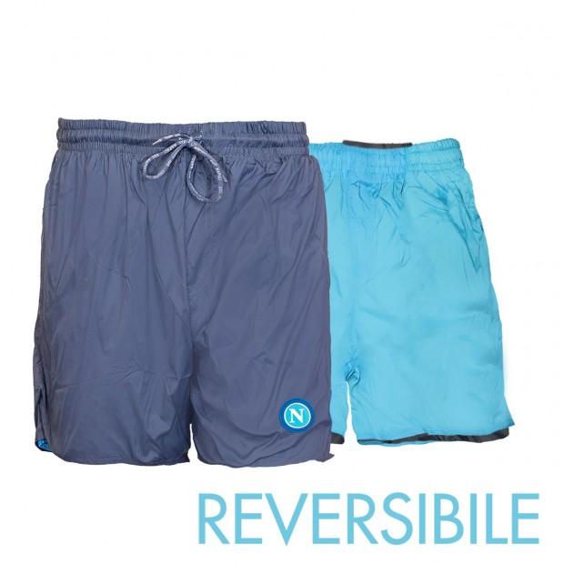 SSC Napoli Blue/Sky Blue Reversible Swimming Trunks