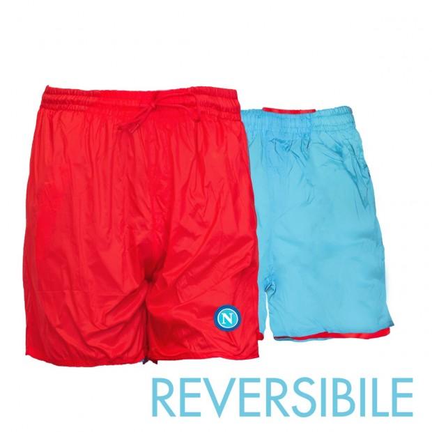 SSC Napoli Costume Reversibile Rosso/Azzurro