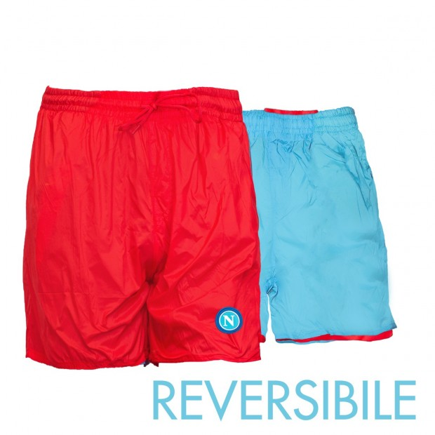 SSC Napoli Red/Sky Blue Reversible Swimming Trunks