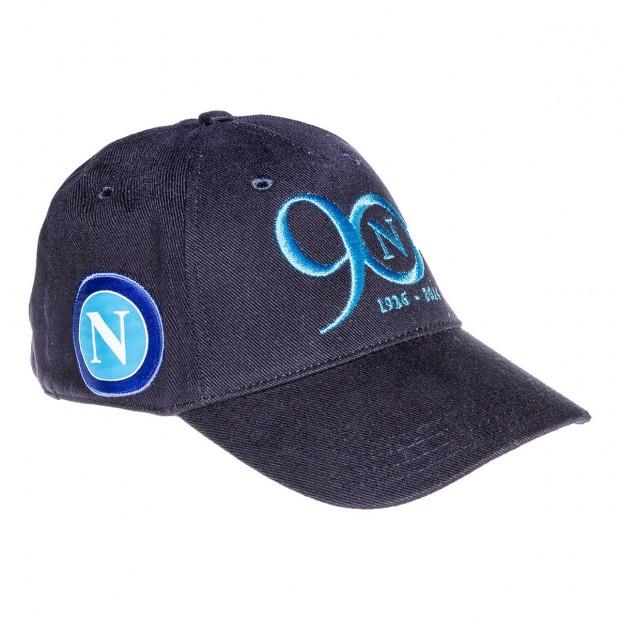 SSC Napoli Cappello con Visiera Blue Marine 90 Anni
