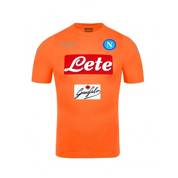 SSC Napoli Goalkeeper Orange Match Shirt 2016 2017 3fa08dcf1