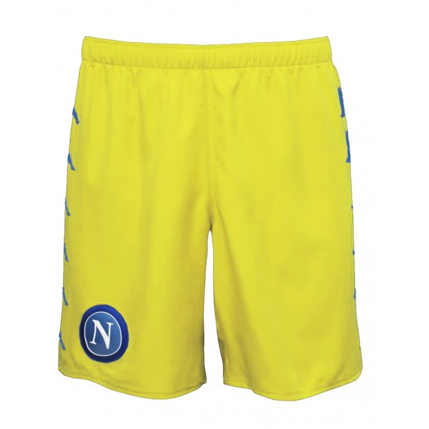 SSC Napoli Yellow Shorts 2016/2017