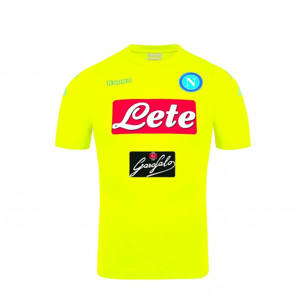 6956d1f239609 SSC Napoli Goalkeeper Yellow Match Shirt 2016 2017