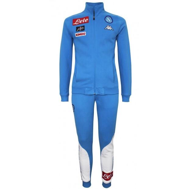 SSC Napoli Sky Blue Representation Fleece Suit 2016 2017 Kid 95a2c58e383b6