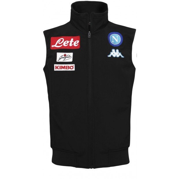 SSC Napoli Black Sleeveless Jacket 2016/2017 for Kids