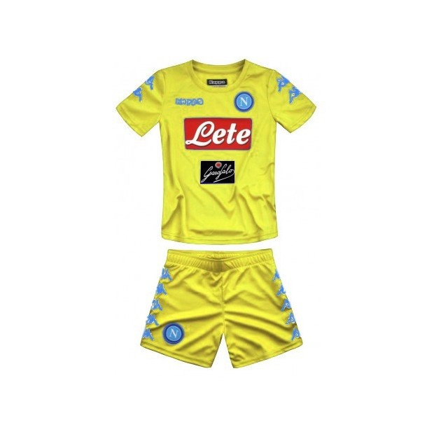 SSC Napoli Set Gara Portiere Giallo JR 2016/2017