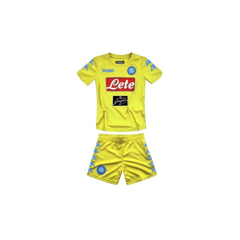 SSC Napoli GK Yellow Kit For Kids 2016 2017 ee9b563db9a11