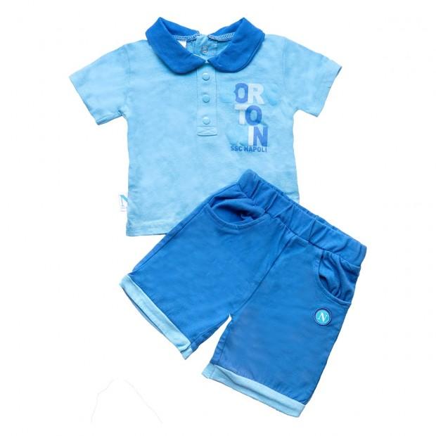 Completo T-Shirt e Shorts Infant Azzurro/Royal