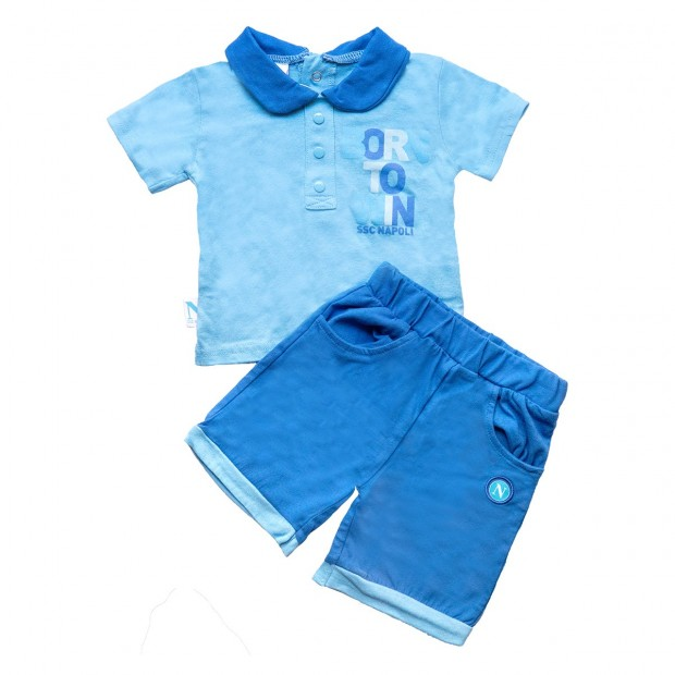 Sky Blue Set of T-Shirt and Shorts for Infants