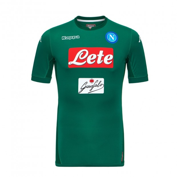 SSC Napoli Goalkeeper Green Match Shirt 2017/2018