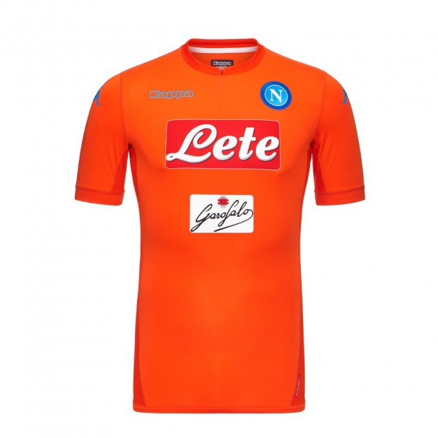 SSC Napoli Goalkeeper Orange Match Shirt 2017/2018