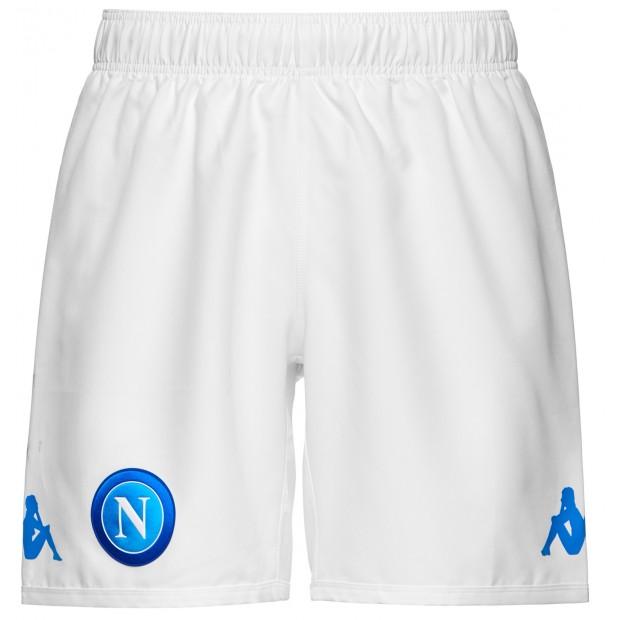 SSC Napoli Pantaloncini Gara Bianchi 2017/2018