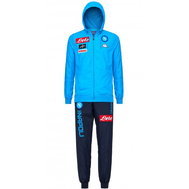 SSC Napoli Sky Blue Micro Representation Suit with Cap 2017/2018