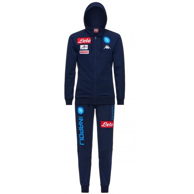 SSC Napoli Blue Marine Representation Poly Suit with Hood 2017/2018 Kid