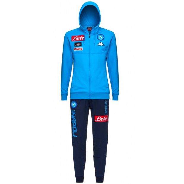 SSC Napoli Sky Blue Representation Poly Suit with Hood 2017/2018
