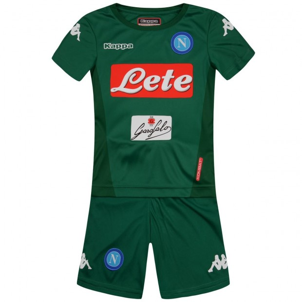 SSC Napoli GK Green Kit For Kids 2017 2018 d0f3a0d0bf12f