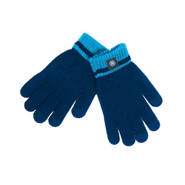 SSC Napoli Navy Blue Touch Screen Gloves