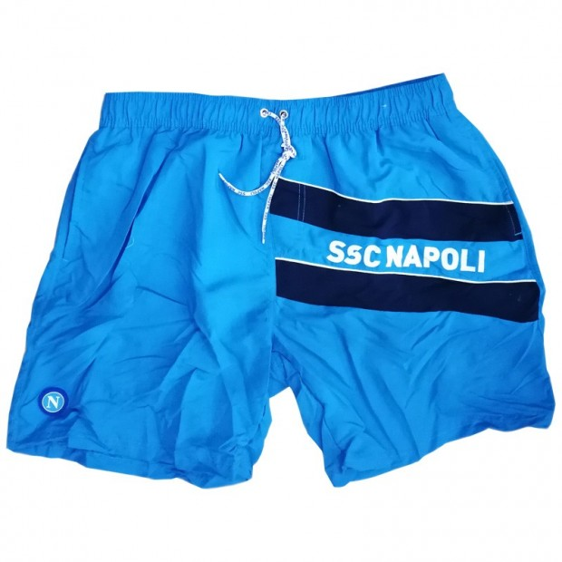 SSC Napoli Sky Blue Microfiber Swimming Trunks