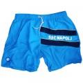 SSC Napoli Sky Blue Microfiber Swimming Trunks