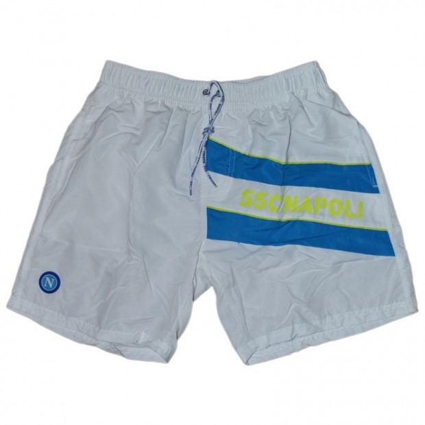 SSC Napoli White Microfiber Swimming Trunks