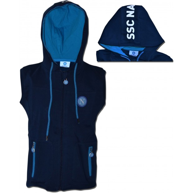 SSC Napoli Blue Infant Sleeveless Hoodie