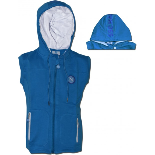 SSC Napoli Sky Blue Infant Sleeveless Hoodie