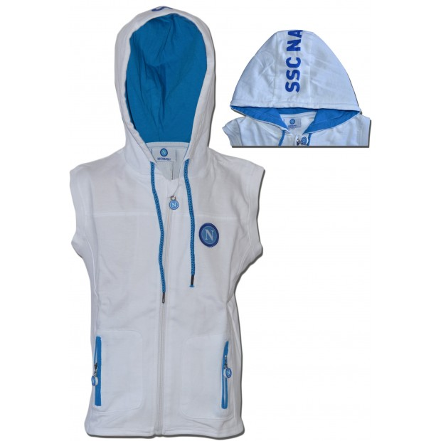 SSC Napoli White Infant Sleeveless Hoodie