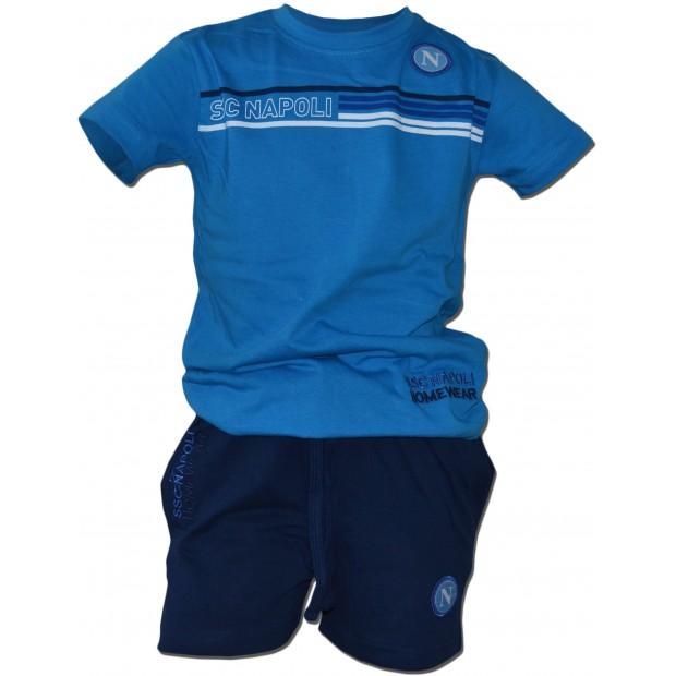SSC Napoli Completo T-Shirt e Shorts Azzurro JR