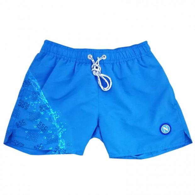 SSCN Sky Blue Magic Print Stylized Swimming Trunks