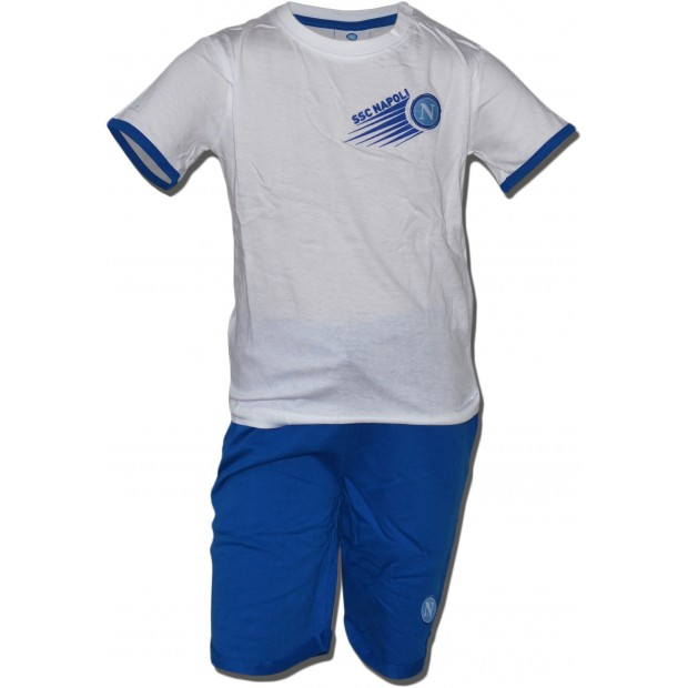 SSC Napoli Set of T-Shirt e Shorts for Infants White/Sky Blue