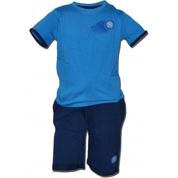 SSC Napoli Set of T-Shirt e Shorts for Infants Sky Blue/Royal Blue