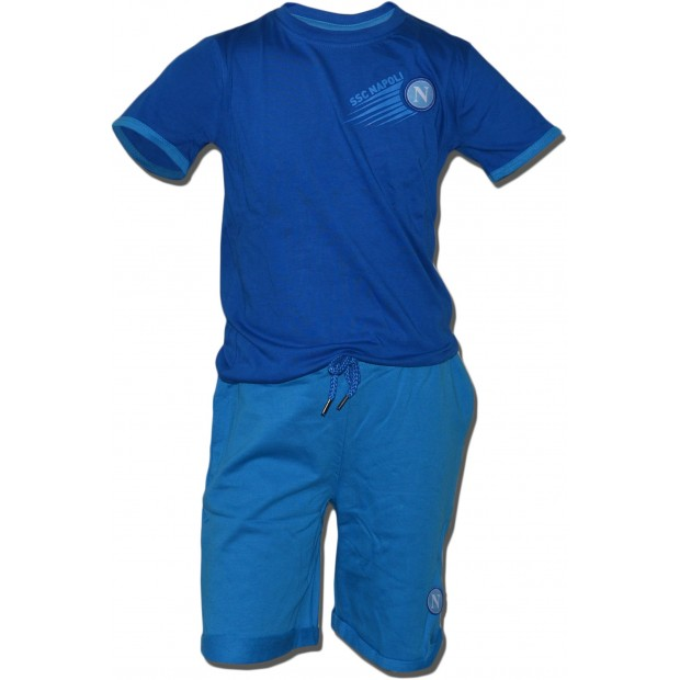 SSC Napoli Set of T-Shirt e Shorts for Infants Blue Royal/Sky Blue