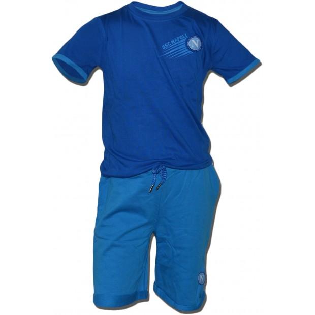 SSC Napoli Completo T-Shirt e Shorts Royal Blu/Azzurro Infant